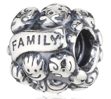 Charm pandora famiglia