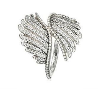 Pandora anello in zirconio bianco con ali
