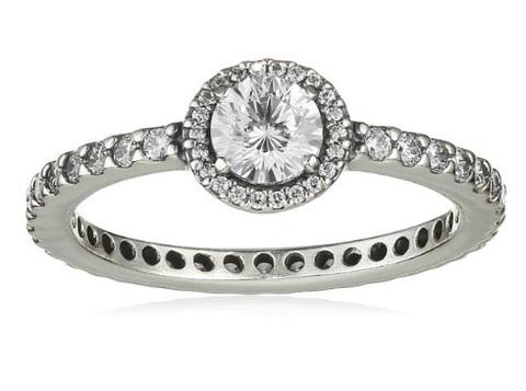 Pandora anello elegante e con zircone bianco
