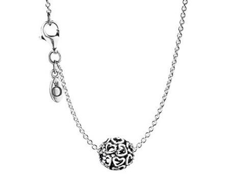 Pandora collana con charm cuori