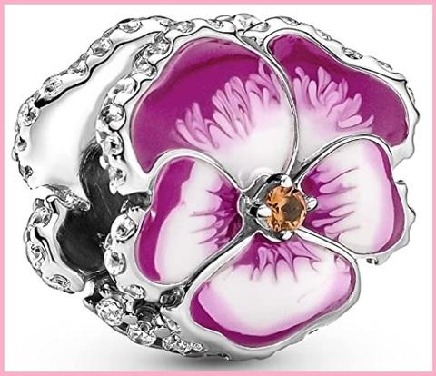 Collana pandora in argento sterling con fiore