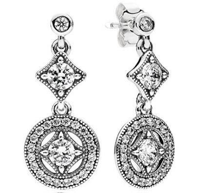 Orecchini pendenti pandora argento sterling