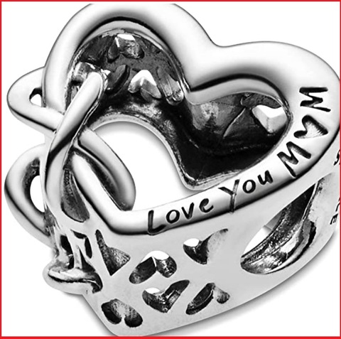 Pandora charms con scritta i love you