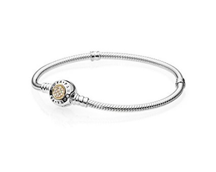 Pandora bracciale in oro e zirconi