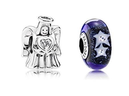 Pandora parure angelo e charms stelle