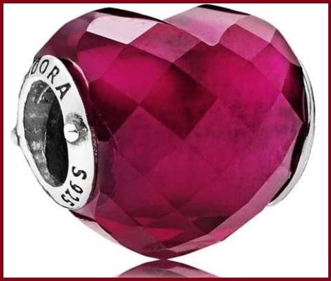 Pandora parure per donna cuore rosso