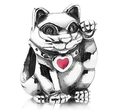 Pandora charms in argento gattino