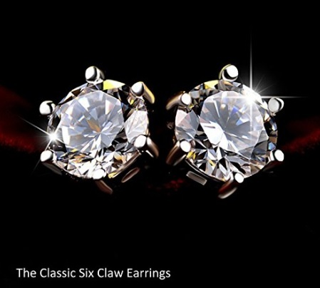 Orecchini zirconia elegante argento