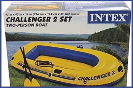 Canotto Challenger Giallo E Blu Rafting
