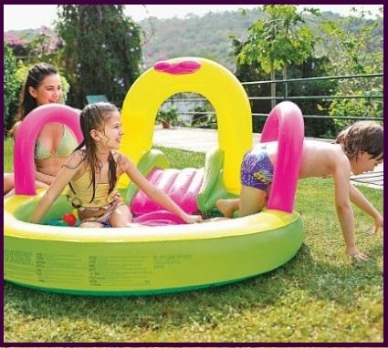 Piscina gonfiabile con mini scivolo grandi sconti - Amazon piscina bambini ...