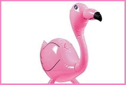 Gonfiabile fenicottero rosa grande