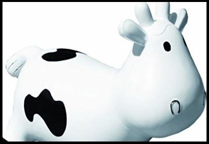 Gonfiabile a forma di mucca fattoria