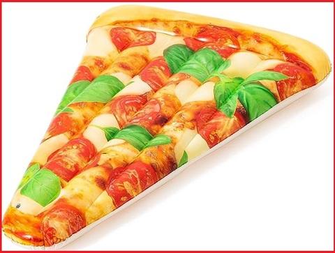 Materassino gonfiabile a forma di pizza