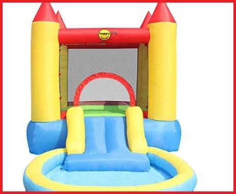 Gonfiabile castello con piscina
