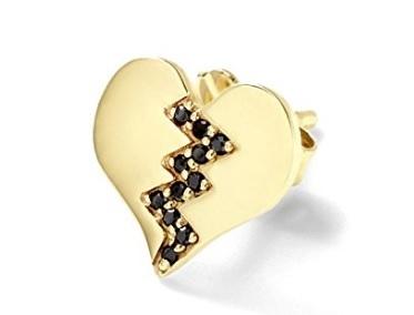 Orecchino a forma di cuore 14 carati alison lou