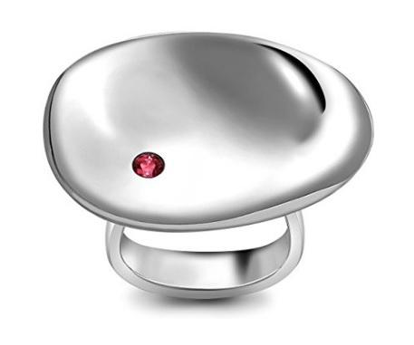 Anello georg jensen serenity argento e rubino