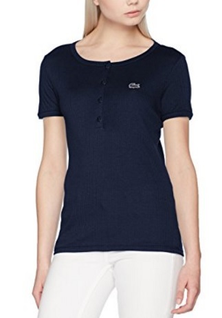 T Shirt Maniche Corte In Cotone Lacoste Donna