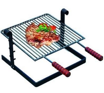 Griglia portatile per barbecue con manici