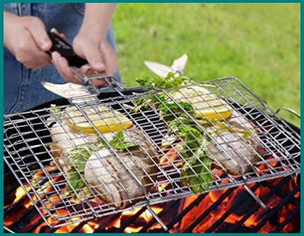 Griglia in acciaio inox per barbecue