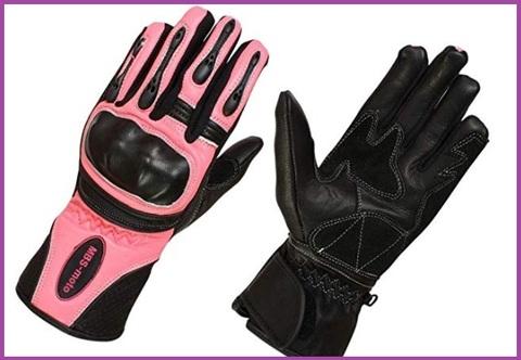 Guanti donna per moto rosa