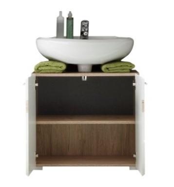 Mobile sotto lavabo effetto legno