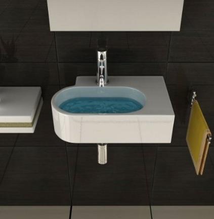 Lavabo Moderno Sospeso E In Ceramica Per Il Bagno