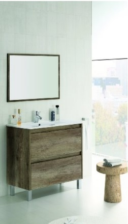 Mobile bagno mdf con lavabo in porcellana
