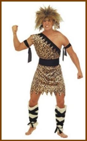 Costumi carnevale uomo primitivo