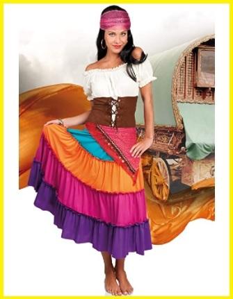 Vestiti di carnevale adulti zingara  fcd0a1ce641f