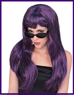 Parrucche carnevale viola