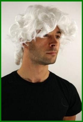 Parrucche carnevale bianche