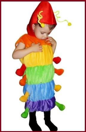 Costume carnevale neonato bruco