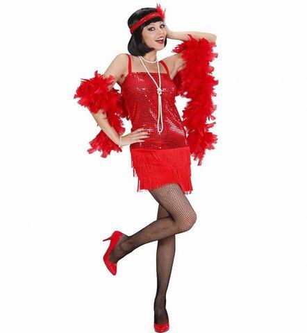 Costume da charleston, rosso