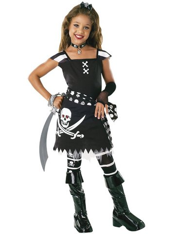 Costume carnevale bambina piratessa