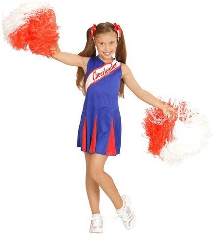 Costume carnevale da cheerleader bambina