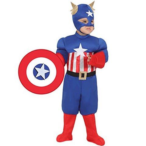 Costume di carnevale capitan america