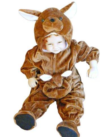 Costume di carnevale da canguro per bambini