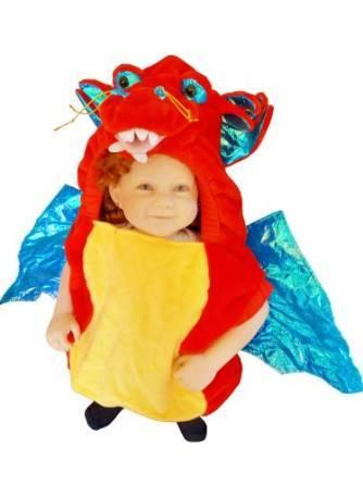 Costume di carnevale da drago per bambini