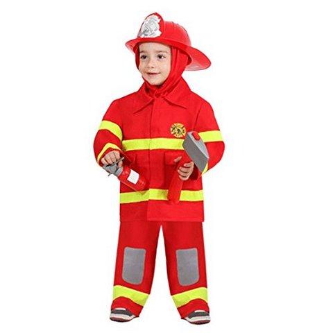 Costume di carnevale piccolo pompiere