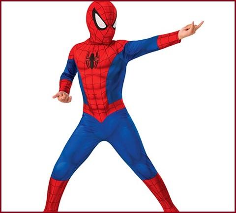Costume di carnevale spiderman abito con occhiali luminescen