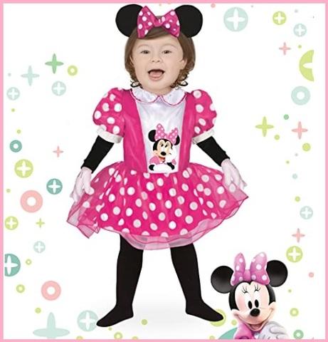 Costume per halloween o carnevale da minnie, per bambina