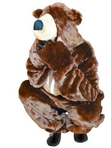 Costume di carnevale da orso bruno