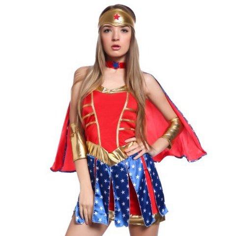 Costume wonder woman vestito carnevale donna