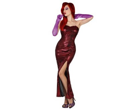 Costume donna rosso jessica rabbit
