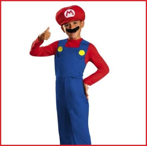 Da Uomo Super Mario Bros Mario Costume adulto Idraulico Costume Rosso