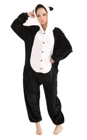 Pigiama da panda animale carnevale costume in flanella
