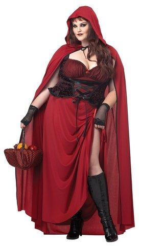 Costume carnevale cappuccetto rosso dark