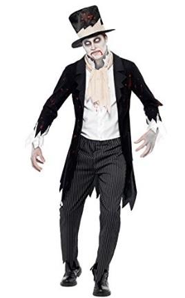 Costume da sposo zombie horror per halloween