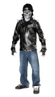Costume Da Zombie Motociclista Per Bambini
