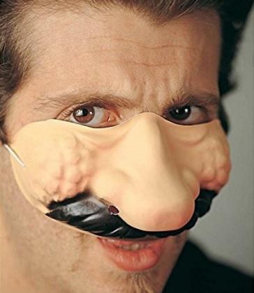 Maschera Accessorio Per Carnevale In Plastica